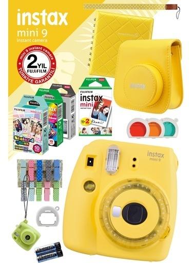 Fujifilm instax mini 9 Sari Fotograf Makinesi ve Mega Hediye Seti Renkli